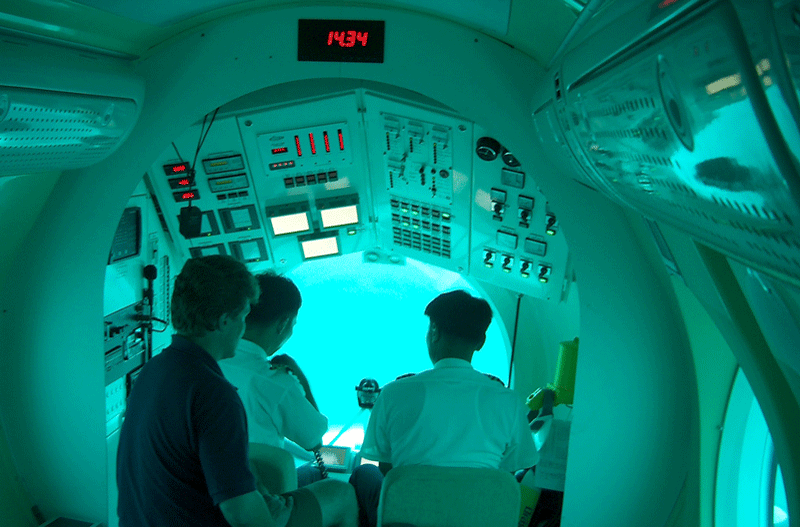 Pilots in Passenger Carrying Submarine